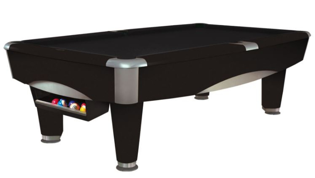This 8' Metro Pool Table is displayed using Ebony Centennial Cloth