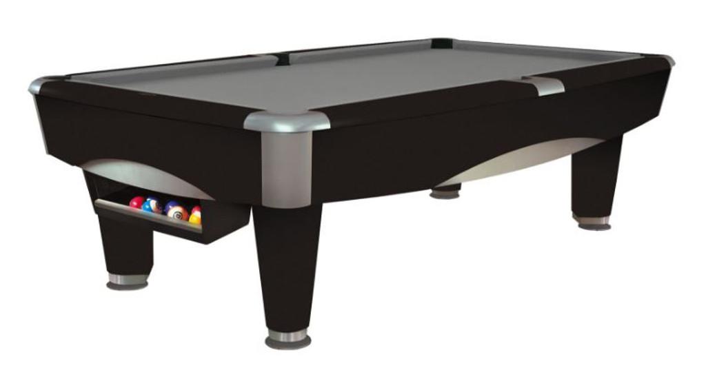 This 8' Metro Pool Table is displayed using Gun Metal Grey Centennial Cloth