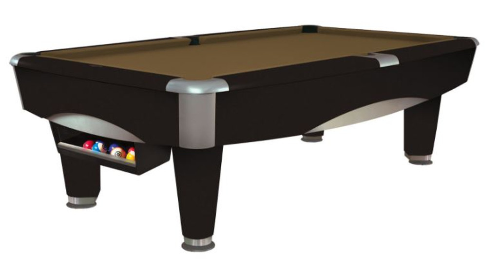 This 8' Metro Pool Table is displayed using Sahara Centennial Cloth