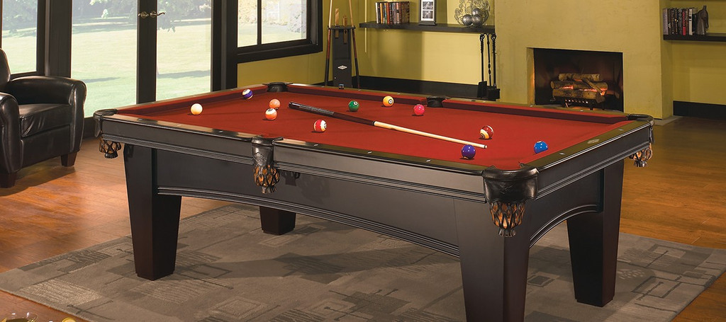 "8' ""Brunswick"" Bayfield Pool Table - Chestnut Stain"