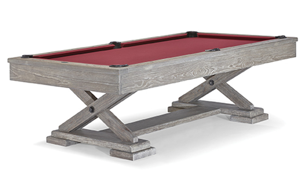 "8' ""Brunswick"" Brixton Pool Table -  Driftwood Finish"