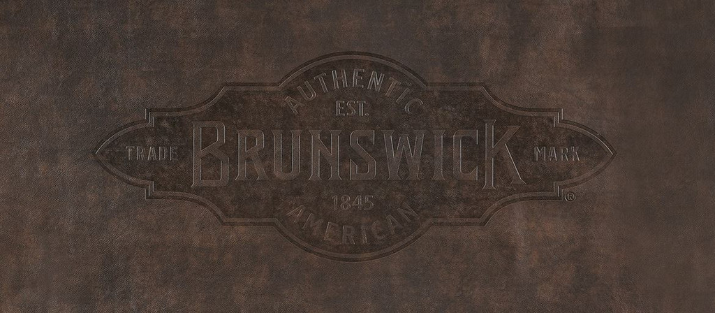 8' Brown Brunswick Pool Table Cover with Emblem -Brixton