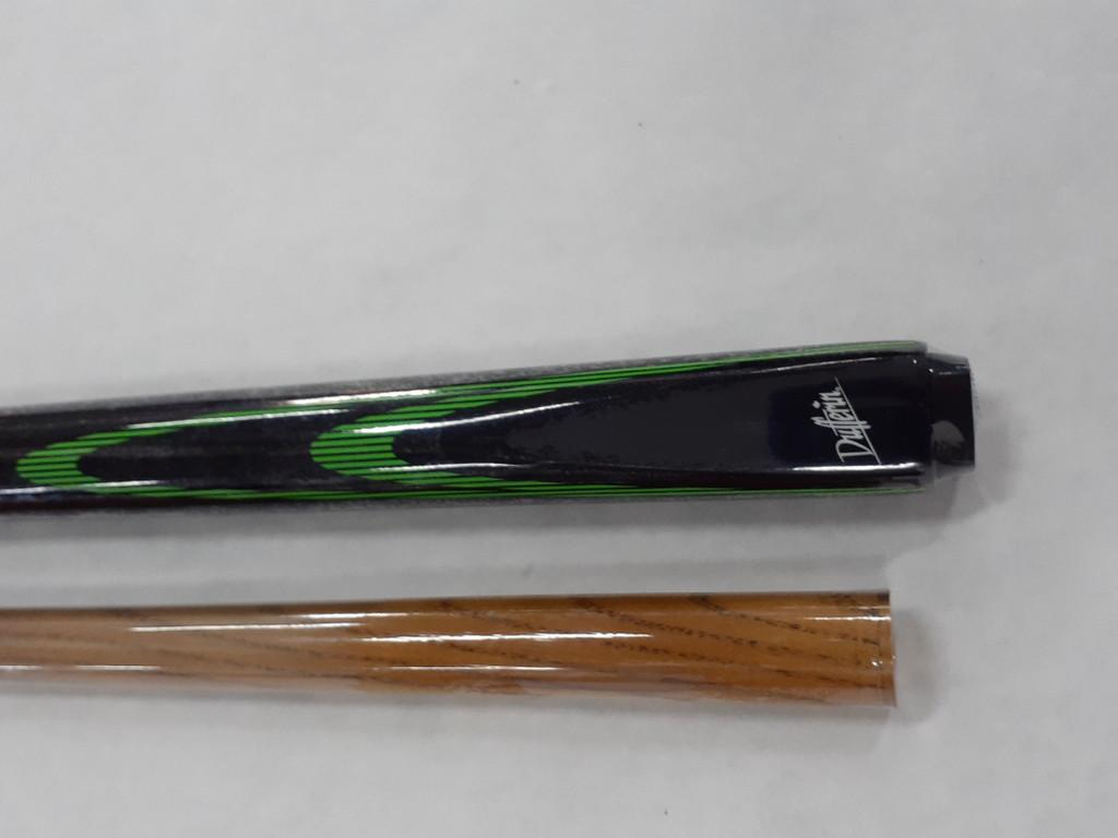 Dufferin 2 piece cue Double Green Flames