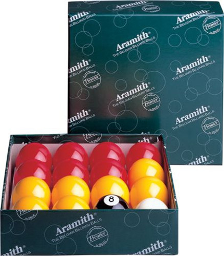 "2"" Aramith Casino Ball Set with 1 7/8 with spotted Cue Ball"