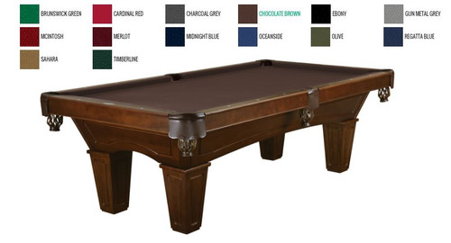 This 8' Allenton is displayed using Chocolate Brunswick Centennial Cloth