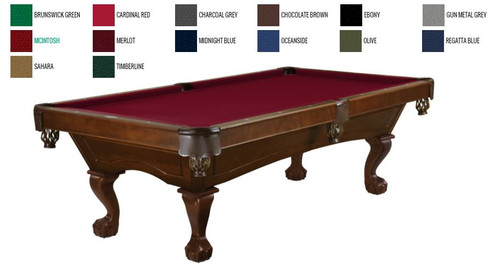 This 8' Allenton is displayed using Merlot Brunswick Centennial Cloth