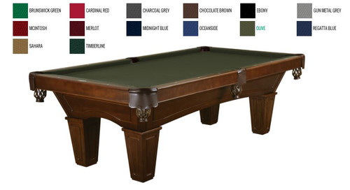 This 8' Allenton is displayed using Olive Brunswick Centennial Cloth