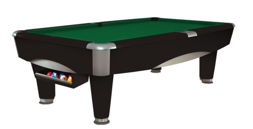 This 8' Metro Pool Table is displayed using Brunswick Green Centennial Cloth