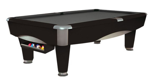 This 8' Metro Pool Table is displayed using Charcoal Grey Centennial Cloth