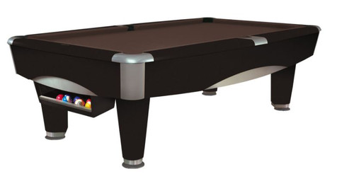 This 8' Metro Pool Table is displayed using Chocolate Brown Centennial Cloth
