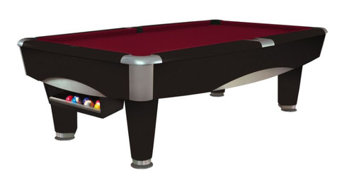 This 8' Metro Pool Table is displayed using Merlot Centennial Cloth