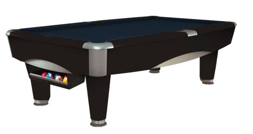 This 8' Metro Pool Table is displayed using Regatta Blue Centennial Cloth