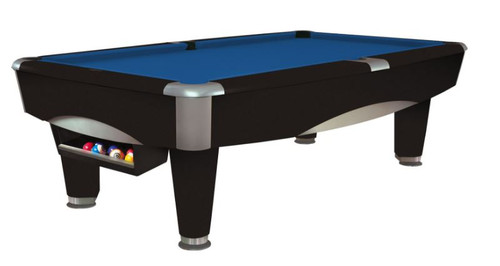 This 8' Metro Pool Table is displayed using Oceanside Centennial Cloth