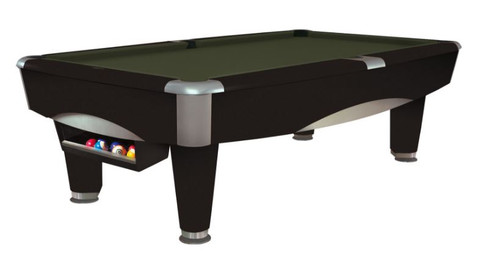 This 8' Metro Pool Table is displayed using Olive Centennial Cloth