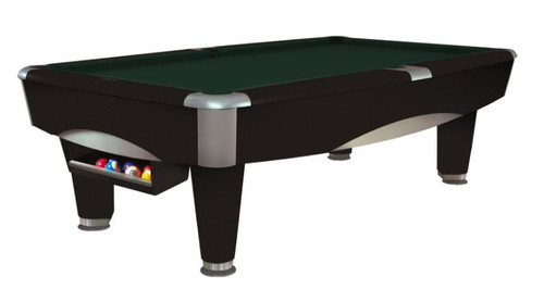 This 8' Metro Pool Table is displayed using Timberline Centennial Cloth