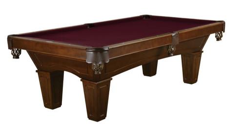 """8' """"Brunswick"""" Allenton Pool Table   Chestnut Stain - Tapered Leg"""