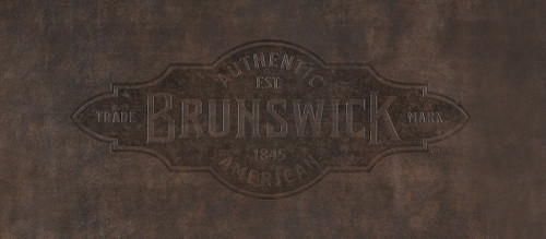 9' Brown Brunswick Pool Table Cover with Emblem - Contender