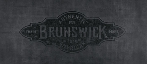 7' Black Brunswick Pool Table Cover with Emblem - Contender