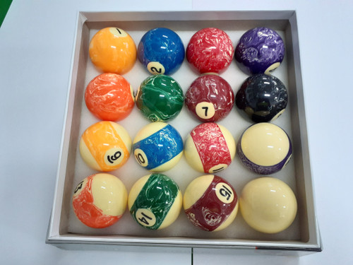 "2"" Marble Kelly Pool Ball Set"