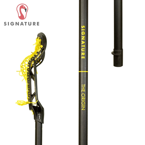 Signature Women's Lacrosse Stick, Yellow, Side Profile