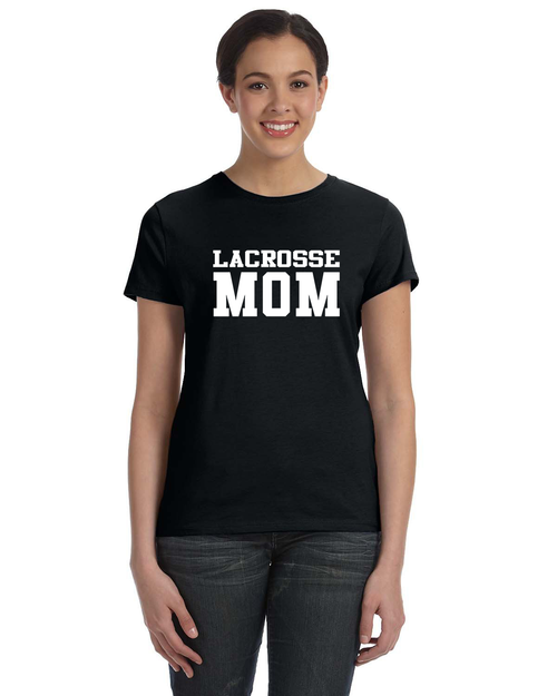 Lacrosse Mom Cotton Shirt - Black