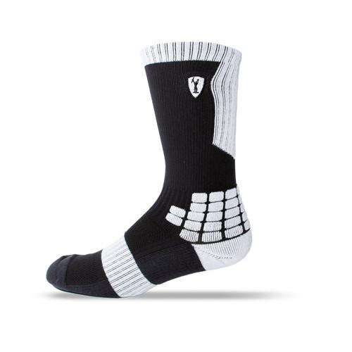 Adrenaline Lacrosse Sock - Black/White