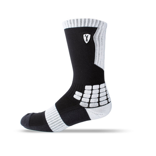 Adrenaline Lacrosse Sock - Black/White
