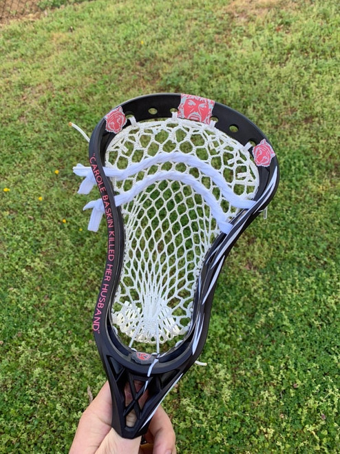 Tiger King Themed Custom Strung and Dyed Lacrosse Head