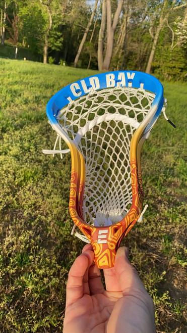 Old Bay Themed Custom Lacrosse Head