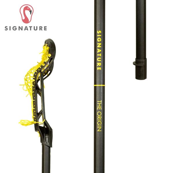 Signature Women's Lacrosse Stick, Yellow, Side Profile