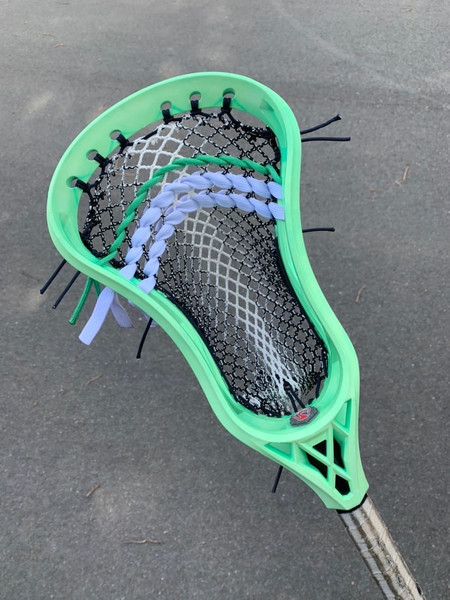 Mint Dyed Custom Lacorsse Head with The Mesh Dynasty Terrestrial Rhombus