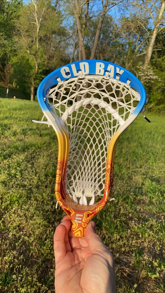 Old Bay Themed Custom Lacrosse Head