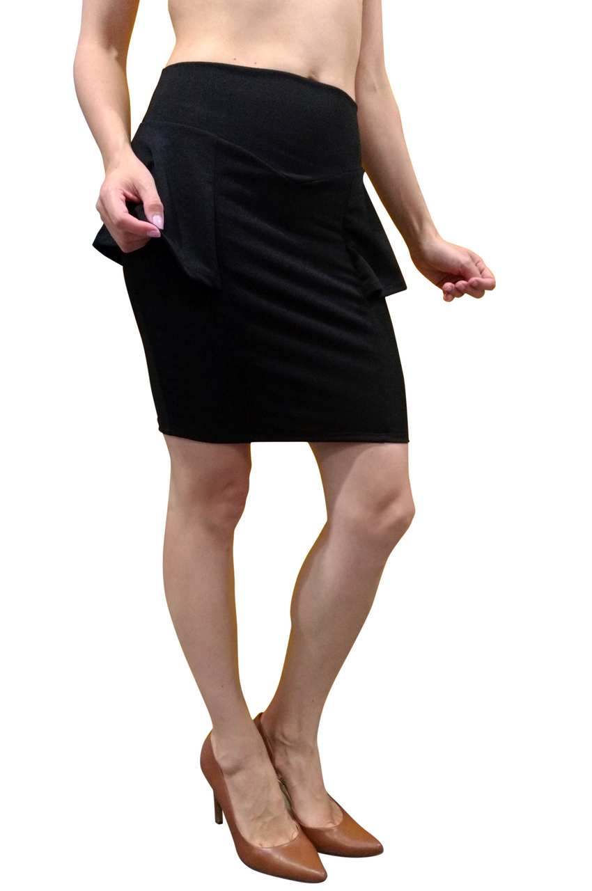 b61d5fa3da1 Black Peplum Pencil Skirt from CHOCOLATE USA! (E-83) - 5dollarfashions.com