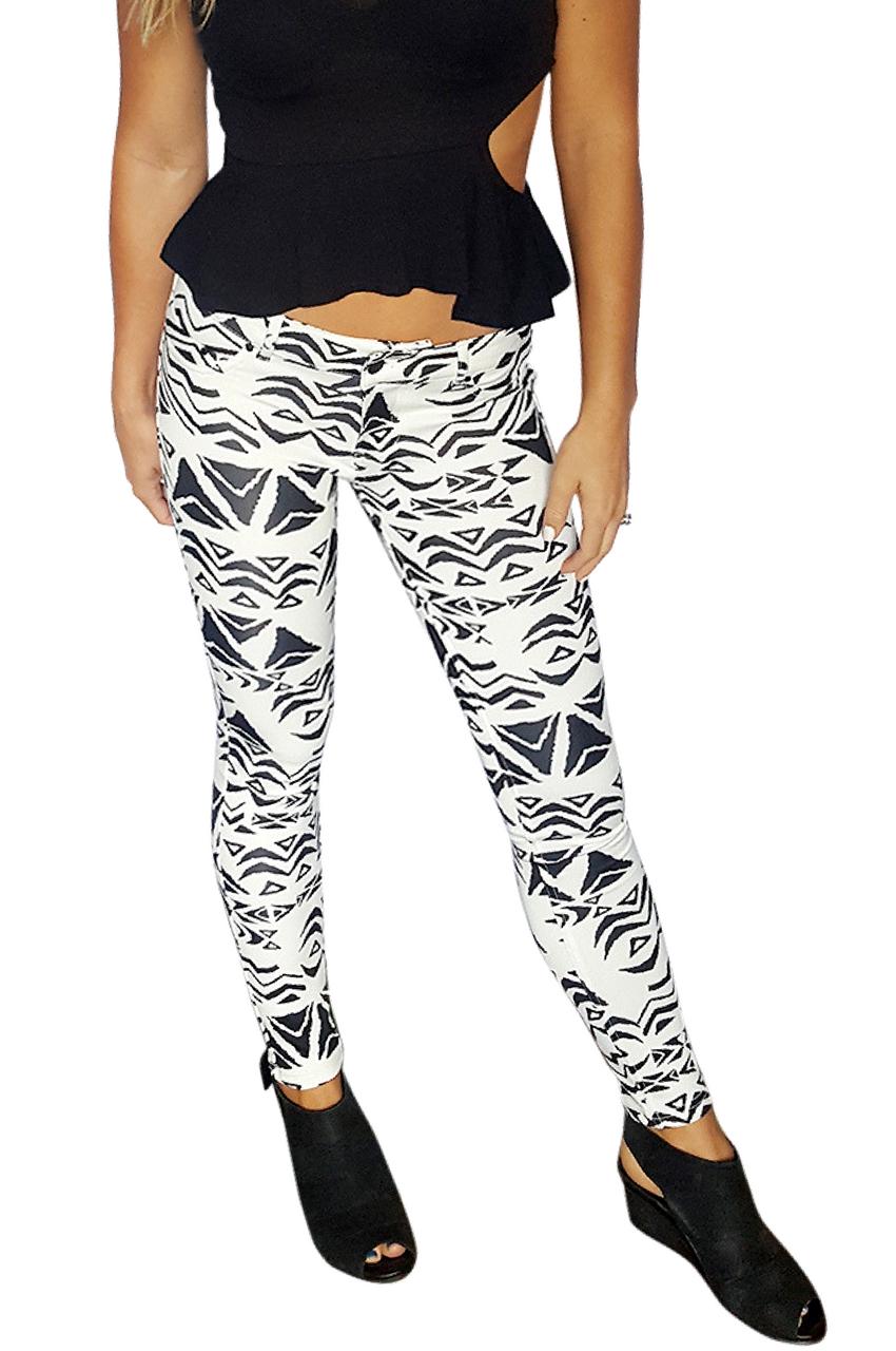 3d388e498420f Skinny Jeans | Stretch | Black and Black Tribal (D-172) -  5dollarfashions.com