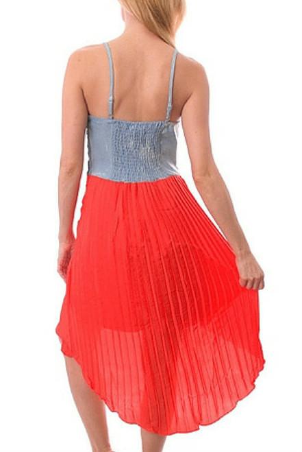 077077ed88f  29.99 Original Tags! Charlotte Russe Dress! Orange Skirt   Acid ...