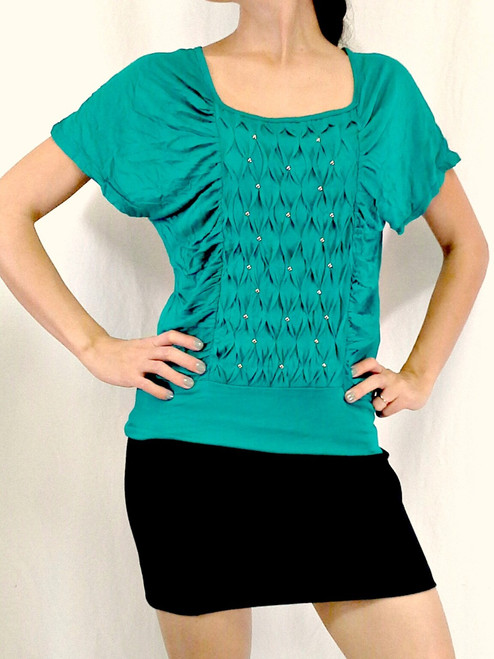 BUCKLE Top is Pleated, Tufted and SUPER Comfy! (i-22)