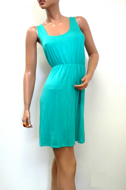 Teal / Mint Green Dress with Cutout Back!  (D-67)