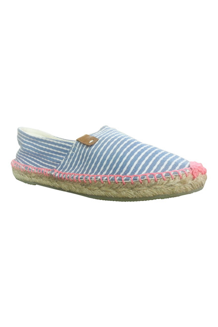 Espadrilles from Coolway Shoes! Adorable Flats in Blue & White Stripes! (L-1)