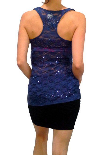 f3040c19a383d Blue Lace Tank Top with $19.99 Tags from WET SEAL! ** LARGE ONLY ...