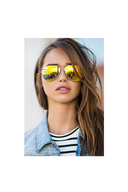 UV400 PROTECTION! HIGH QUALITY, CLASSIC AVIATOR SUNGLASSES! GOLD.