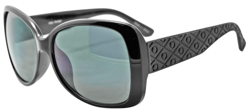 UV400 PROTECTION! UBER-MODERN BLACK FRAME SUNGLASSES WITH DARK LENSES.