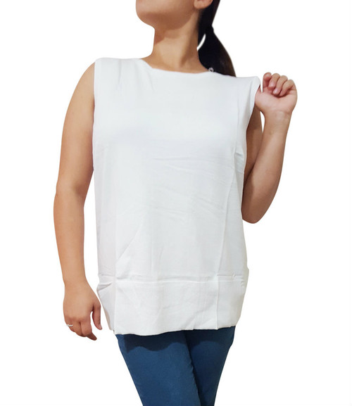 Plus Size Cardigan Is Amazing Cotton-Rayon Blend! White. (B-42)