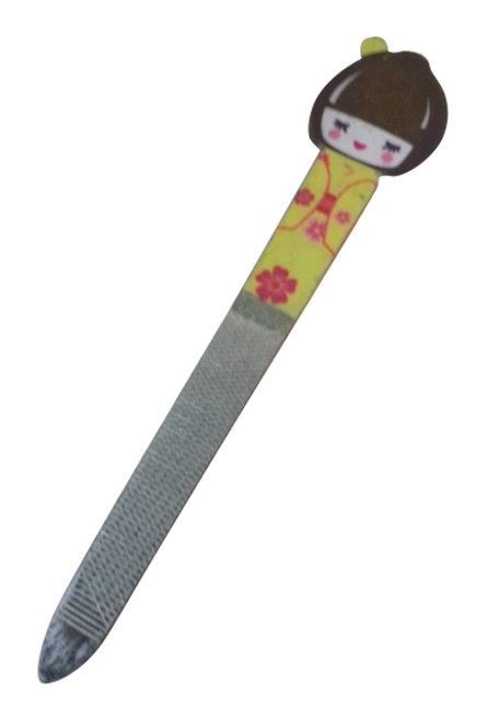 GIFT ITEM | Geisha Girl | Japanese Nail File | Yellow.