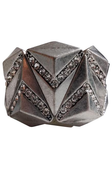 BRACELETS. Simple, Classy Metallic Stretch Bracelet. Color: Pewter. (G-44)