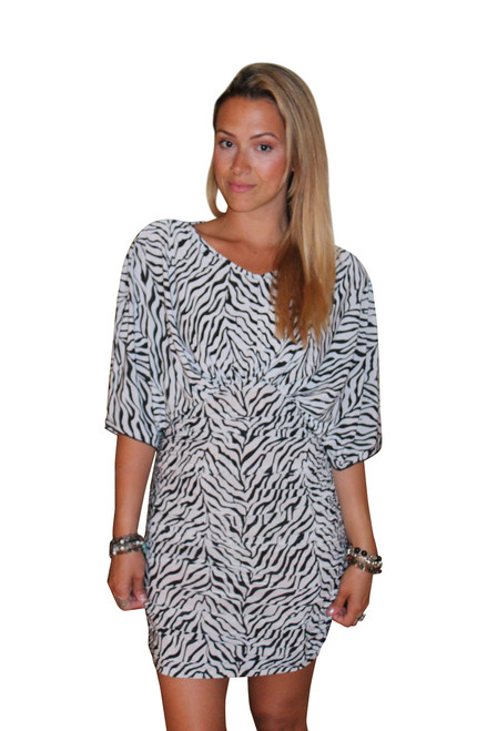 Zebra Print Silky Dress from FIT4U! (C-106)