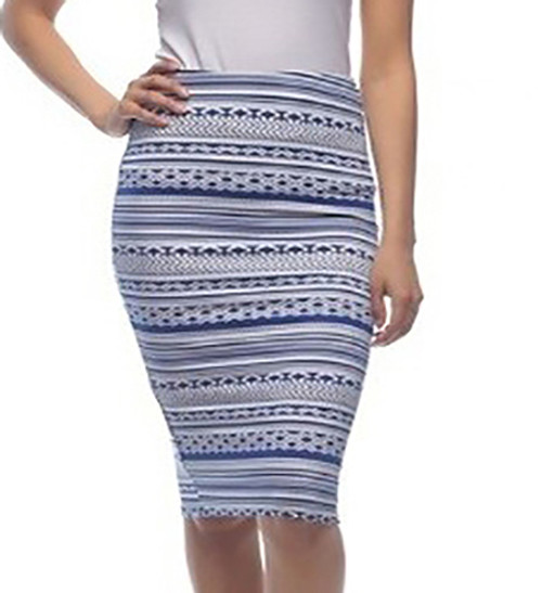 54feed218 Classic Pencil Skirt with an Unique Aztec Print (20-37) -  5dollarfashions.com