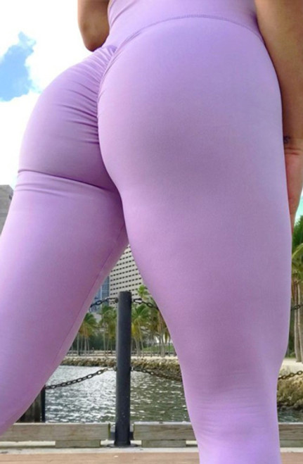 Leggings Features Ruched Back Sport Lilac (13-200)