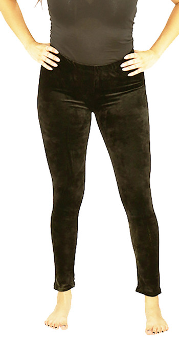 Soft Velvet Chocolate Brown Leggings One Size (32-12)