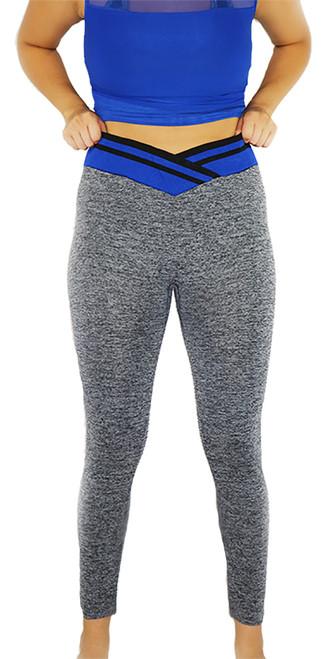 Gray Space-dyed  w/Royal Blue Sport Leggings (31-5)
