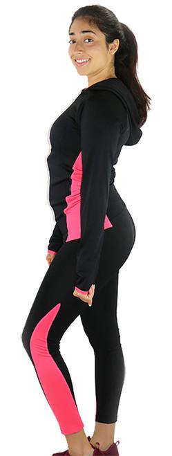 Sport Hoody & Matching Legging Black/Pink (31-11)